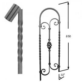 barreau ray en fer forg 650 51 forja rafael c b. Black Bedroom Furniture Sets. Home Design Ideas