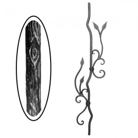 Barrote madera de hierro forjado 700-16